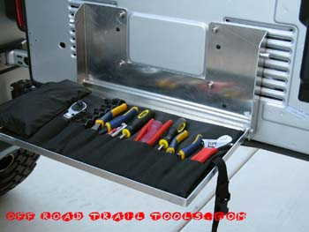 Off Road Tool Drop Tray and Tool Roll