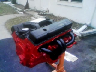 Engine after painting